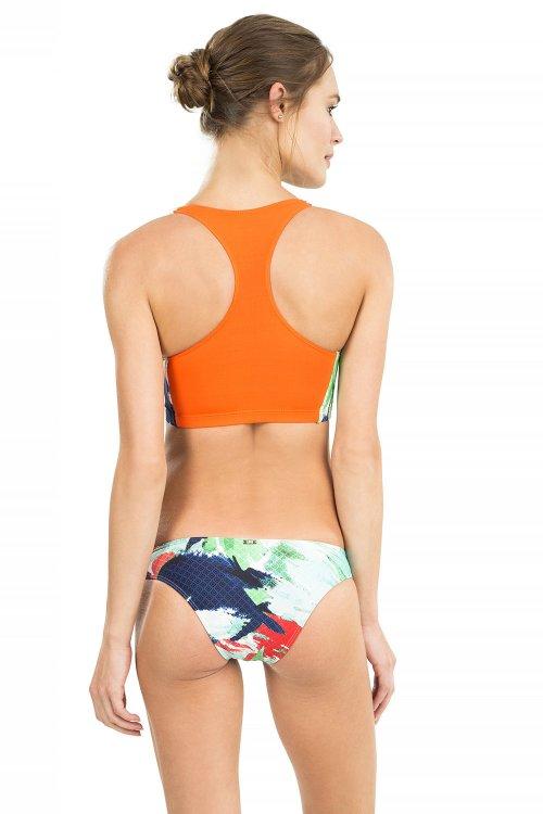 Tanga Leaf Print Swim