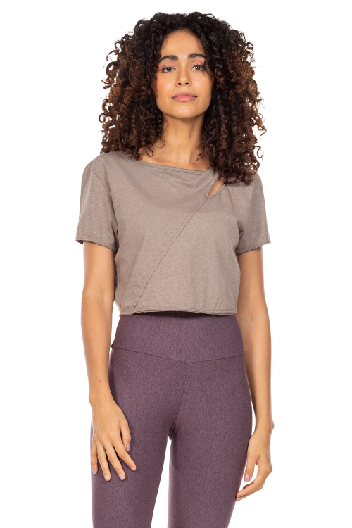 Blusa Cropped Natural Eco