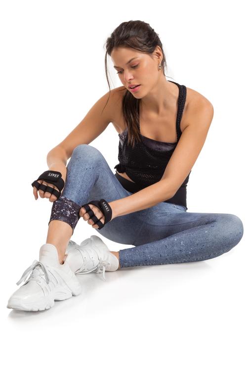 Calça Legging Jeans Reversible Stone Blur