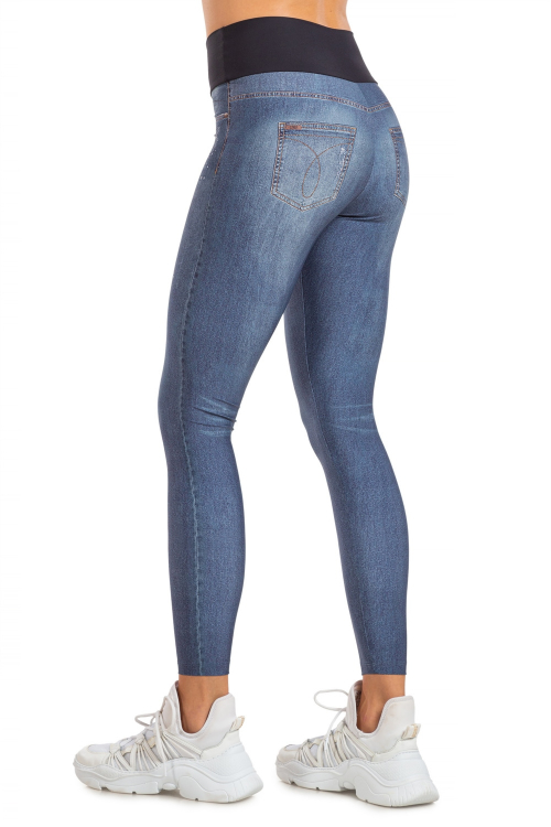 Calça Legging Jeans Mixed Stone