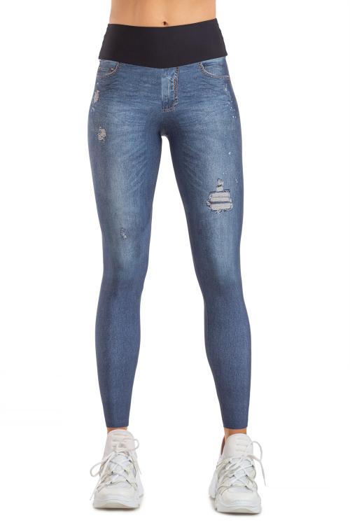 Calça Legging Jeans Mixed Stone