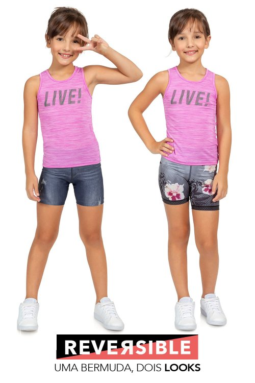 Bermuda Jeans Reversible Hike Kids