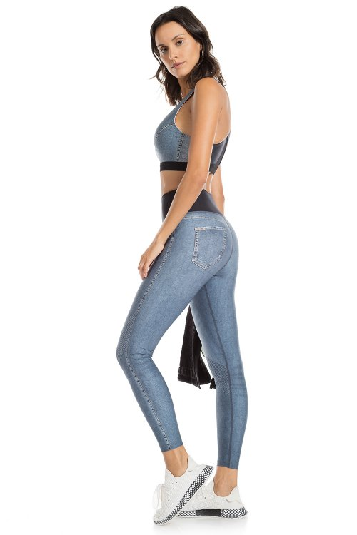 Calça Legging Jeans Reversible Downtown
