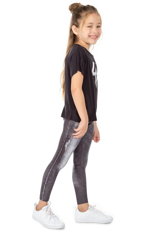Calça Legging Jeans Daily Look Kids
