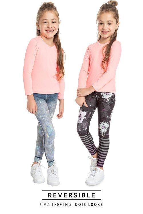 Calça Legging Jeans Reversible Lux Kids