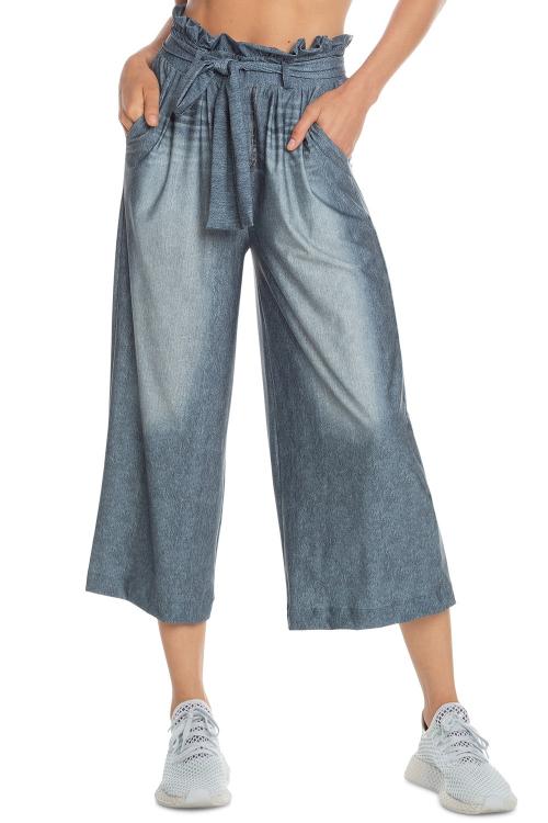 Calça Pantacourt Jeans Groove