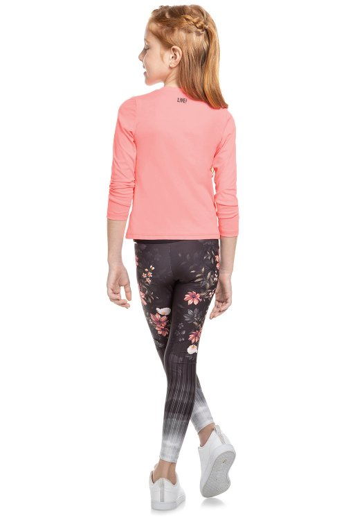 Calça Legging Floral View Kids