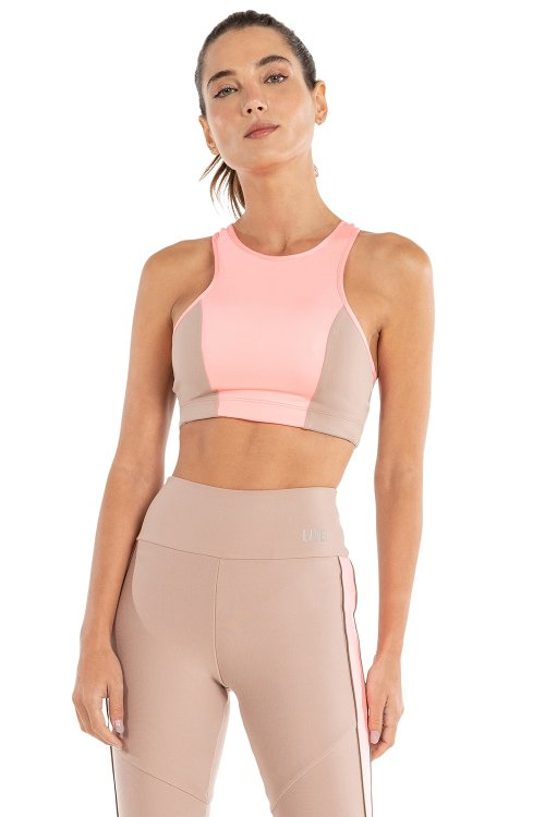 Top Halter Color Block
