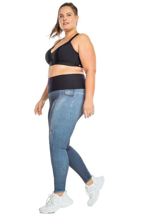 Calça Fusô Reversible Jeans Jurerê Plus Size