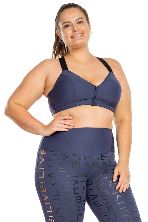Top Neo Halter Dots Plus Size