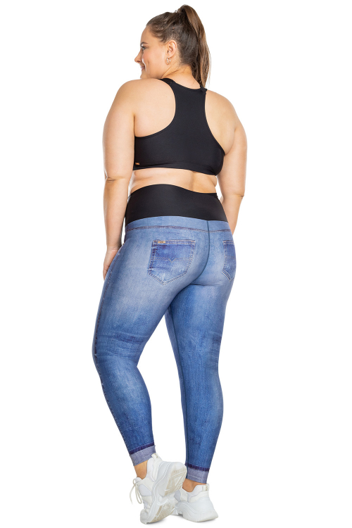 Calça Legging Jeans Original  Plus Size