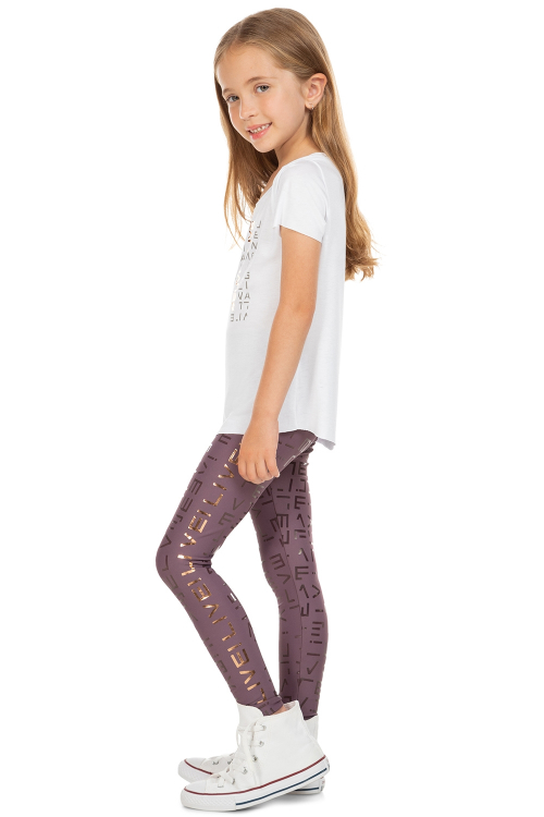 Calça Legging LIVE! Icon Lux Kids