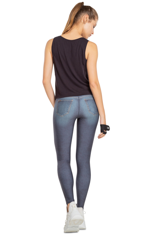 Calça Legging Jeans Reversible Motion