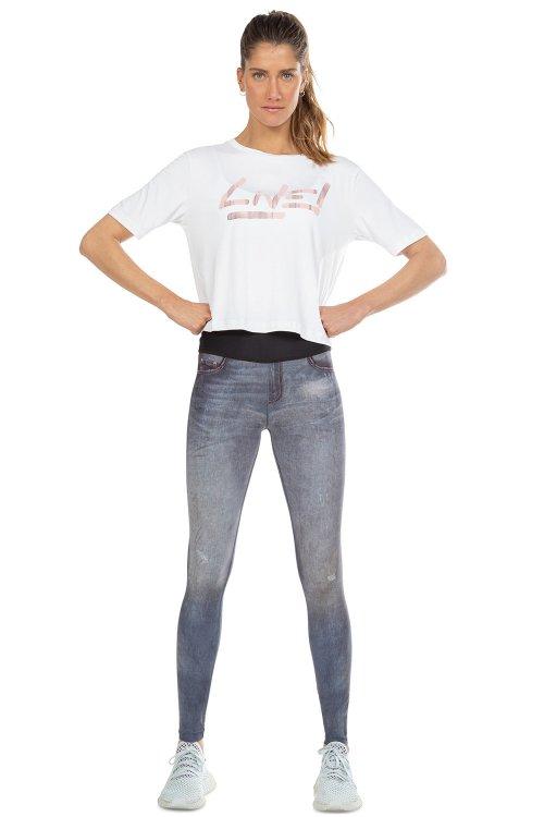 Calça Fusô Reversible Jeans Bloom