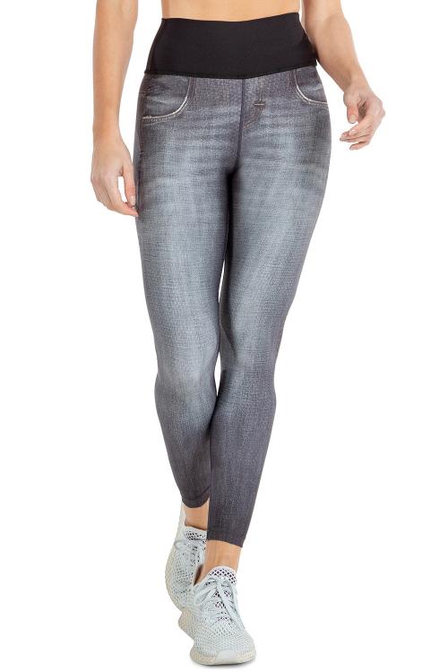 Calça Legging Reversible Jeans Team Live!