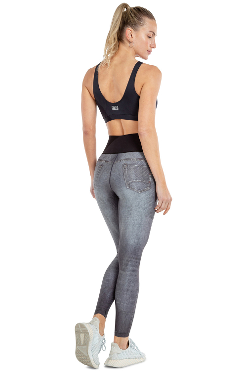 Calça Legging Reversible Jeans Team Live!