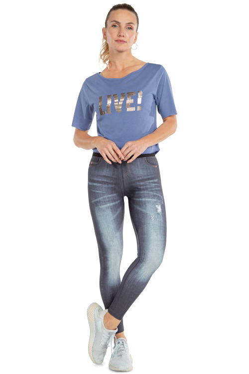 Calça Legging Jeans Reversible Discover