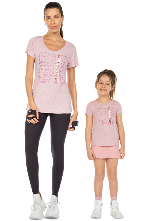 Look Mãe e Filha Blusa  LIVE! Icon Lux Red Blend