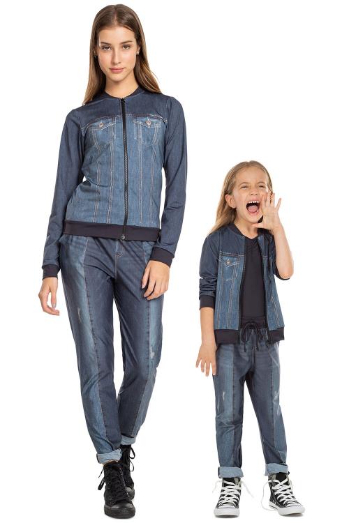 Look Mãe e Filha Jaqueta Jeans Daily