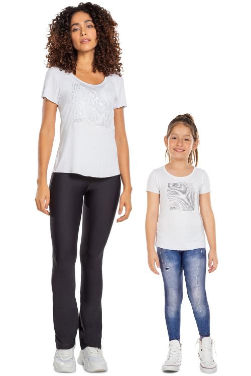 Look Mãe e Filha Blusa Transcend White