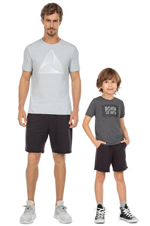 Look Pai e Filho Bermuda Liveliness Noir Black