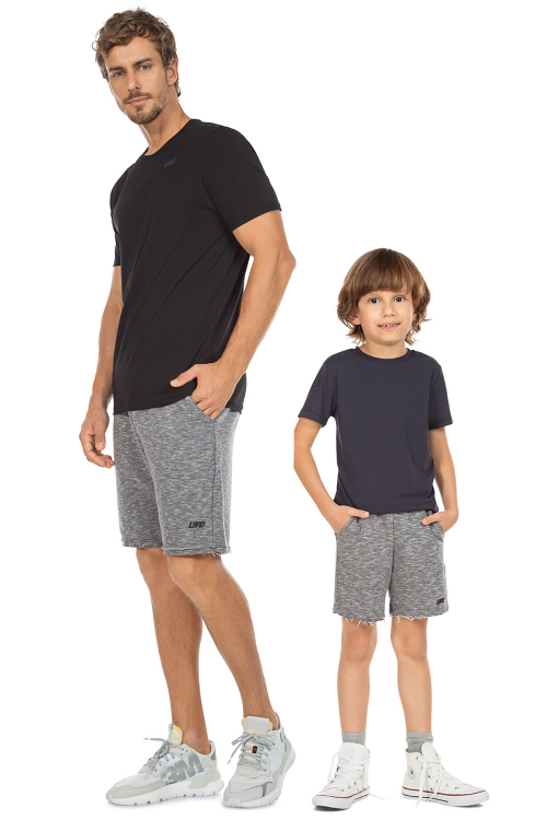Look Pai e Filho Bermuda Liveliness Mescla