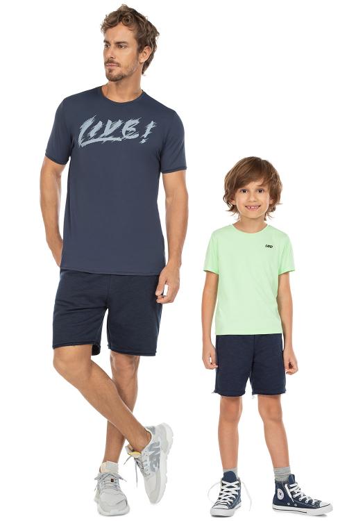 Look Pai e Filho Bermuda Liveliness Azul