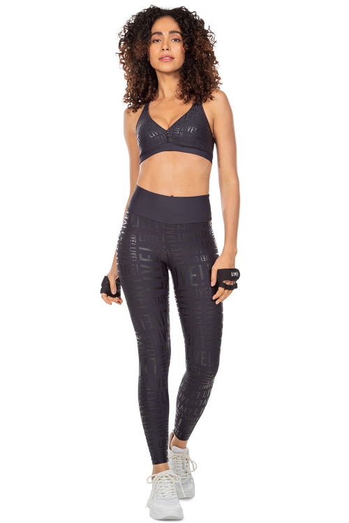 Top Live! e Calça Legging Live! Essential Noir Black