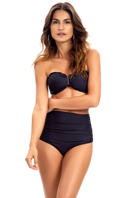 Biquíni Bandeau Fancy Essential Preto