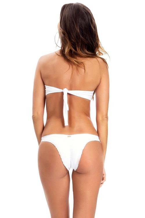 Biquíni Bandeau Fancy Essential Branco